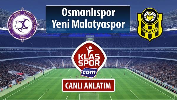 Osmanlıspor - Evkur Y.Malatyaspor sahaya hangi kadro ile çıkıyor?