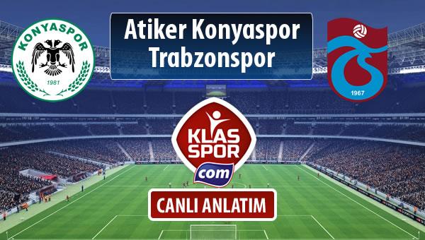 İşte Atiker Konyaspor - Trabzonspor maçında ilk 11'ler