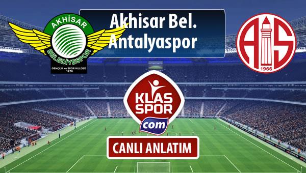Akhisar Bel. - Antalyaspor sahaya hangi kadro ile çıkıyor?