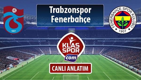 Trabzonspor - Fenerbahçe maç kadroları belli oldu...