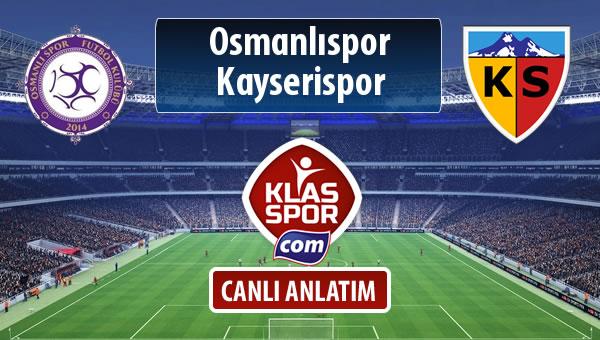 Osmanlıspor - Kayserispor maç kadroları belli oldu...