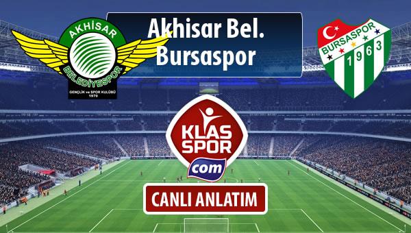 Akhisar Bel. - Bursaspor maç kadroları belli oldu...