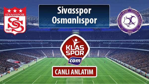 Demir Grup Sivasspor - Osmanlıspor sahaya hangi kadro ile çıkıyor?