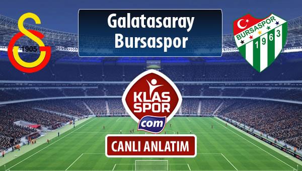 Galatasaray - Bursaspor sahaya hangi kadro ile çıkıyor?