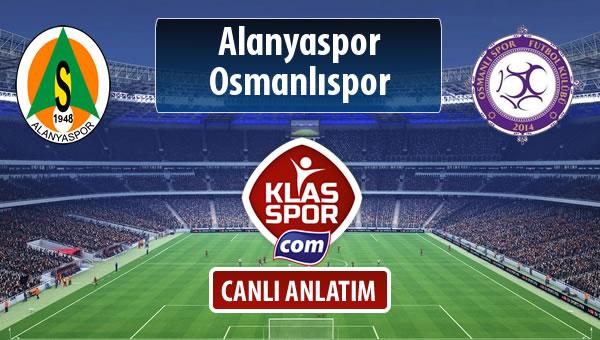 Alanyaspor - Osmanlıspor sahaya hangi kadro ile çıkıyor?