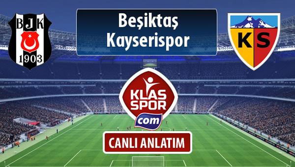 Beşiktaş - Kayserispor maç kadroları belli oldu...