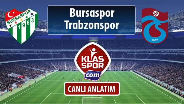 Bursaspor - Trabzonspor maç kadroları belli oldu...