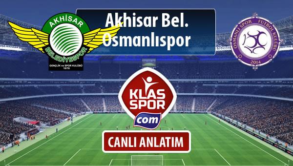 Akhisar Bel. - Osmanlıspor maç kadroları belli oldu...
