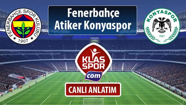 Fenerbahçe - Atiker Konyaspor maç kadroları belli oldu...