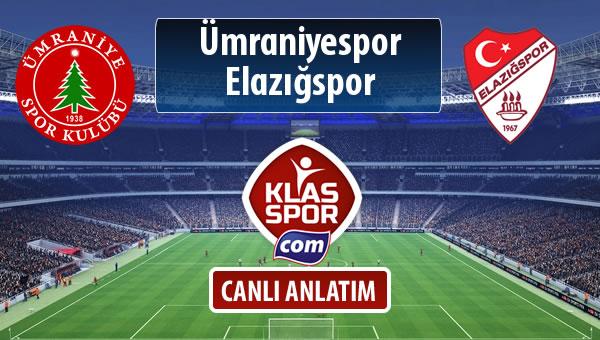 İşte Ümraniyespor - Elazığspor maçında ilk 11'ler