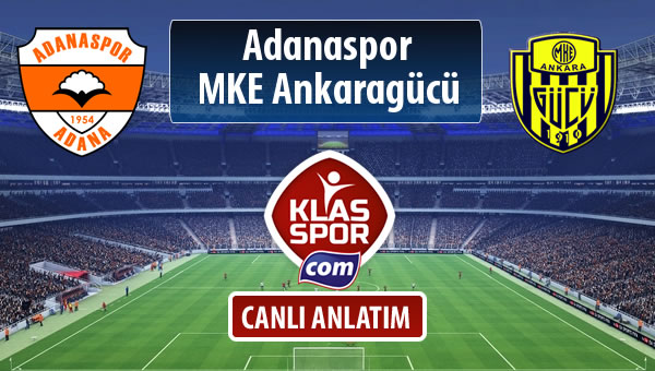 Adanaspor - MKE Ankaragücü maç kadroları belli oldu...