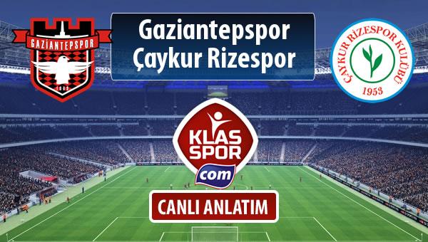 Gaziantepspor - Çaykur Rizespor maç kadroları belli oldu...