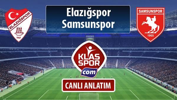 Elazığspor - Samsunspor sahaya hangi kadro ile çıkıyor?