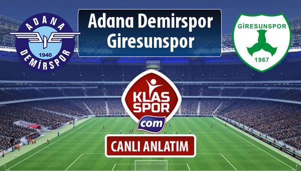 İşte Adana Demirspor - Giresunspor maçında ilk 11'ler