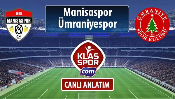 Manisaspor - Ümraniyespor maç kadroları belli oldu...