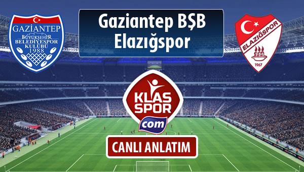 Gazişehir Gaziantep FK - Elazığspor sahaya hangi kadro ile çıkıyor?
