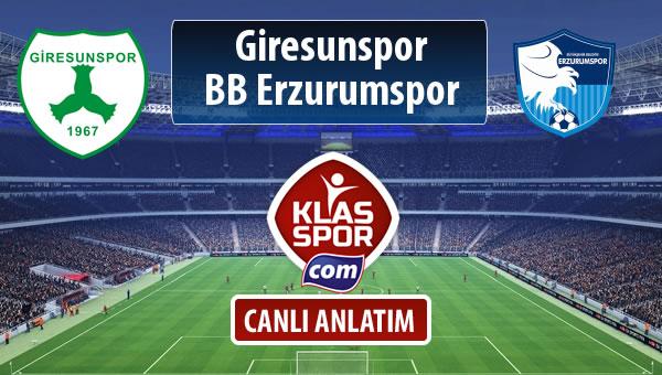 İşte Giresunspor - BB Erzurumspor maçında ilk 11'ler