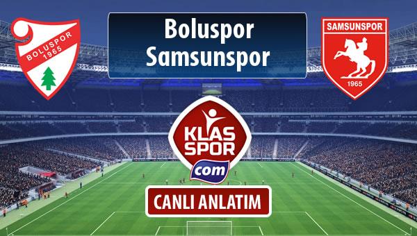 Boluspor - Samsunspor sahaya hangi kadro ile çıkıyor?