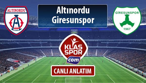 İşte Altınordu - Giresunspor maçında ilk 11'ler