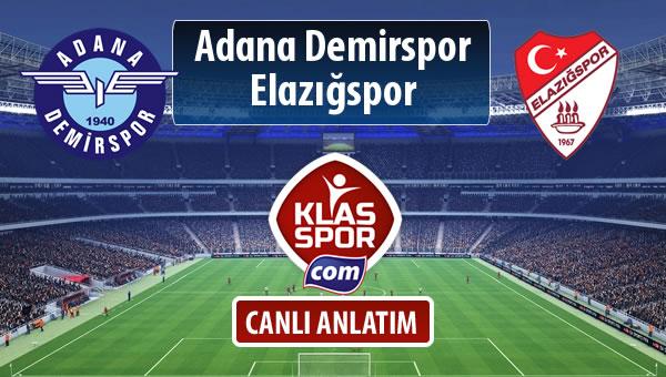 Adana Demirspor - Elazığspor maç kadroları belli oldu...