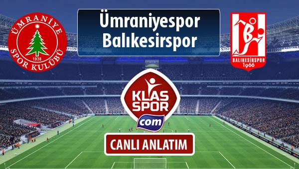 Ümraniyespor - Balıkesirspor Baltok maç kadroları belli oldu...