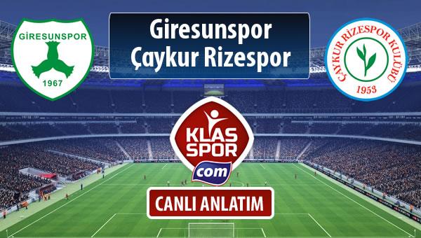 Giresunspor - Çaykur Rizespor sahaya hangi kadro ile çıkıyor?