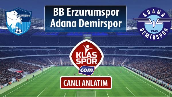 İşte BB Erzurumspor - Adana Demirspor maçında ilk 11'ler