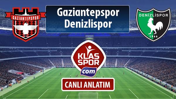 Gaziantepspor - Denizlispor maç kadroları belli oldu...