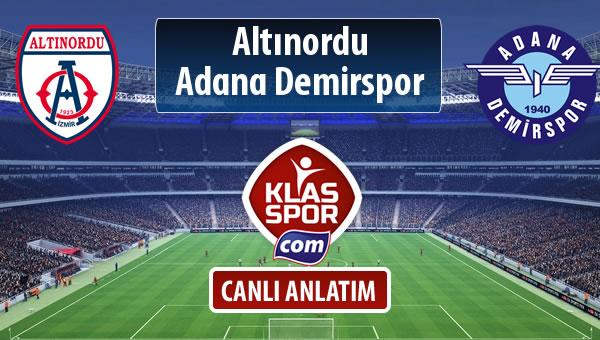 Altınordu - Adana Demirspor sahaya hangi kadro ile çıkıyor?