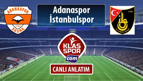 İşte Adanaspor - İstanbulspor maçında ilk 11'ler