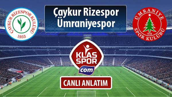 İşte Çaykur Rizespor - Ümraniyespor maçında ilk 11'ler