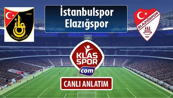 İşte İstanbulspor - Elazığspor maçında ilk 11'ler