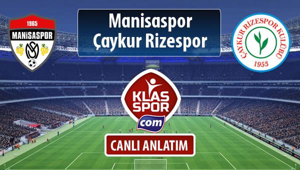 İşte Manisaspor - Çaykur Rizespor maçında ilk 11'ler