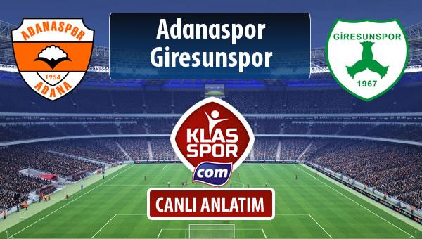 İşte Adanaspor - Giresunspor maçında ilk 11'ler