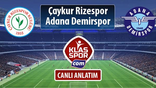 Çaykur Rizespor - Adana Demirspor maç kadroları belli oldu...