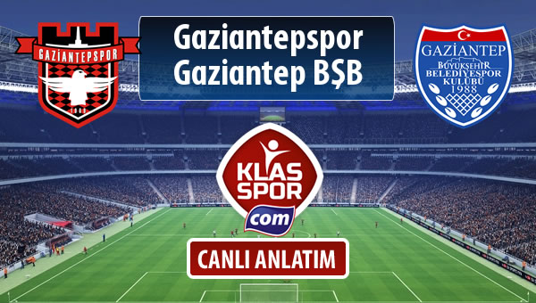 Gaziantepspor - Gazişehir Gaziantep FK maç kadroları belli oldu...