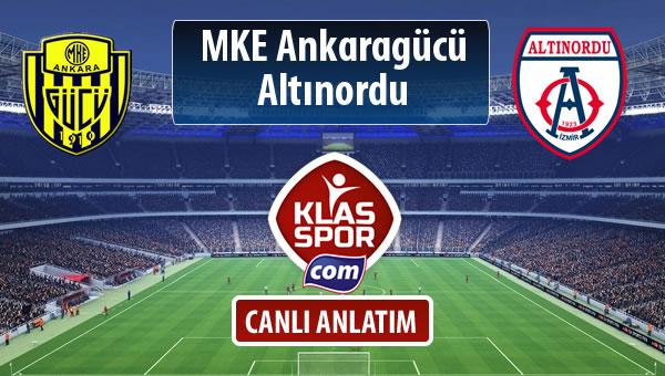 MKE Ankaragücü - Altınordu maç kadroları belli oldu...