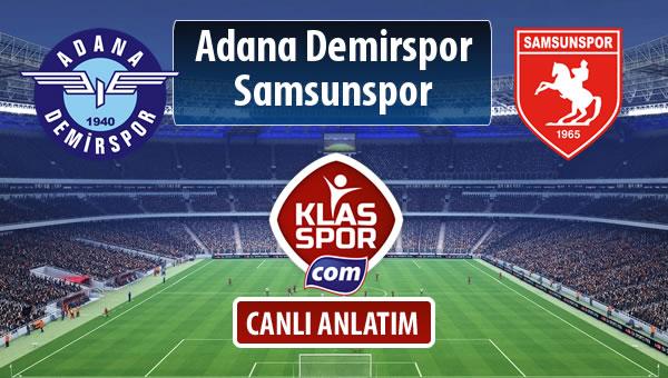 Adana Demirspor - Samsunspor sahaya hangi kadro ile çıkıyor?