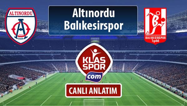 İşte Altınordu - Balıkesirspor Baltok maçında ilk 11'ler