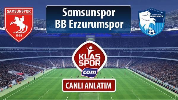 Samsunspor - BB Erzurumspor maç kadroları belli oldu...