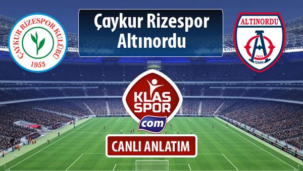 Çaykur Rizespor - Altınordu sahaya hangi kadro ile çıkıyor?