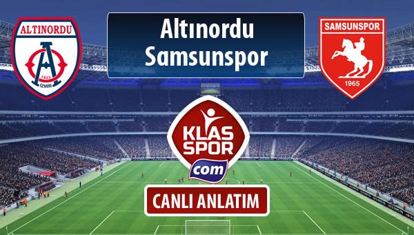 İşte Altınordu - Samsunspor maçında ilk 11'ler