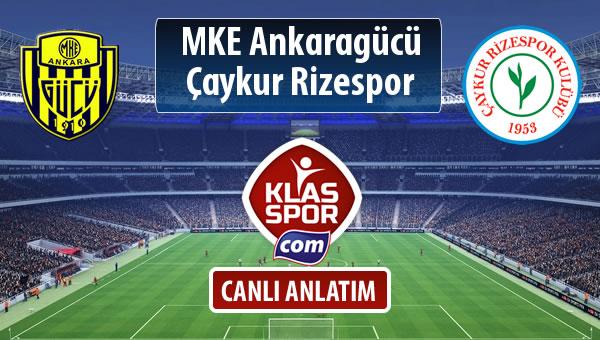 MKE Ankaragücü - Çaykur Rizespor maç kadroları belli oldu...