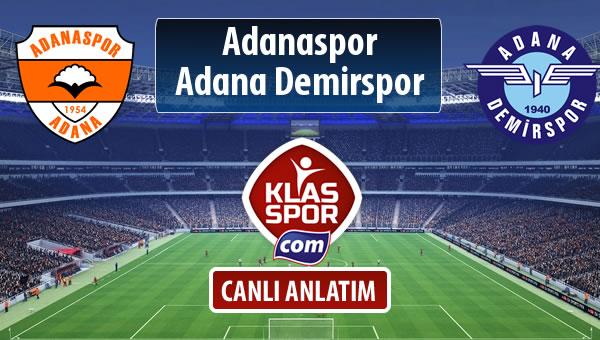 İşte Adanaspor - Adana Demirspor maçında ilk 11'ler