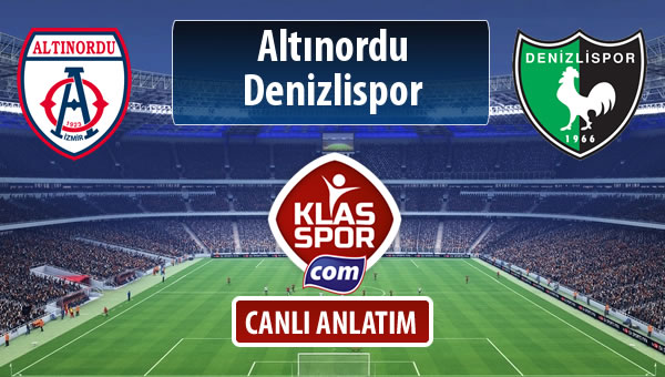 Altınordu - Denizlispor maç kadroları belli oldu...