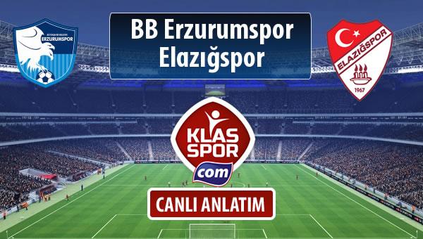 BB Erzurumspor - Elazığspor maç kadroları belli oldu...