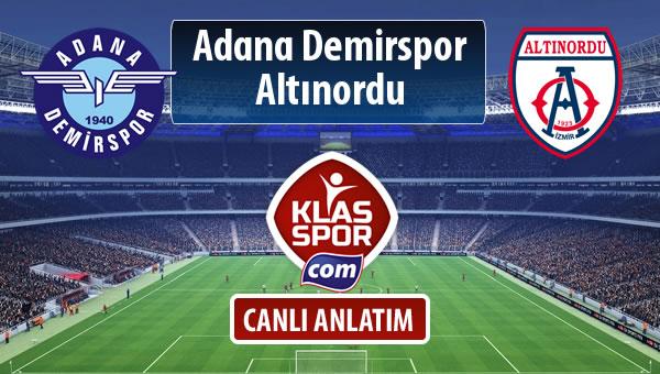 Adana Demirspor - Altınordu maç kadroları belli oldu...