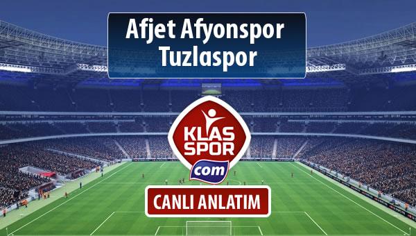 Afjet Afyonspor  - Tuzlaspor sahaya hangi kadro ile çıkıyor?