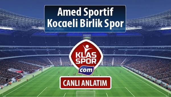 Amed Sportif - Kocaeli Birlik Spor maç kadroları belli oldu...