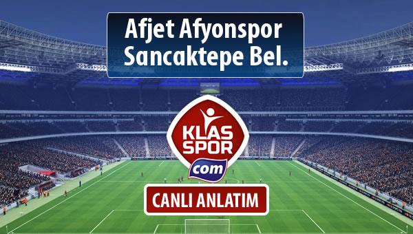 İşte Afjet Afyonspor  - Sancaktepe Bel. maçında ilk 11'ler